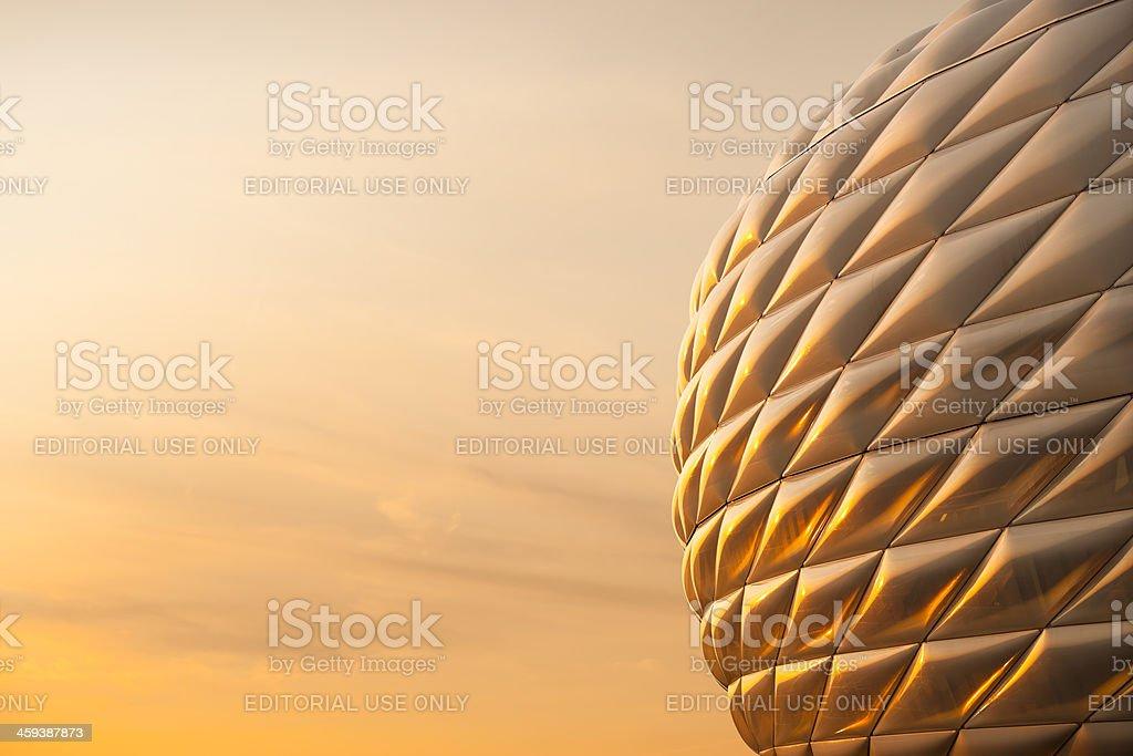Detail der Allianz-Arena in München nahe dem Fußballstadion – Foto