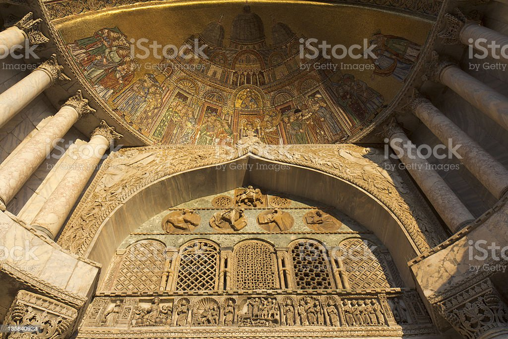 Detail of the Basilica St Mark royalty-free stock photo