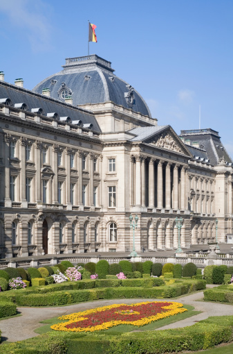 Detail Of The Belgian Royal Palace In Brussels Stock Photo - Download Image Now