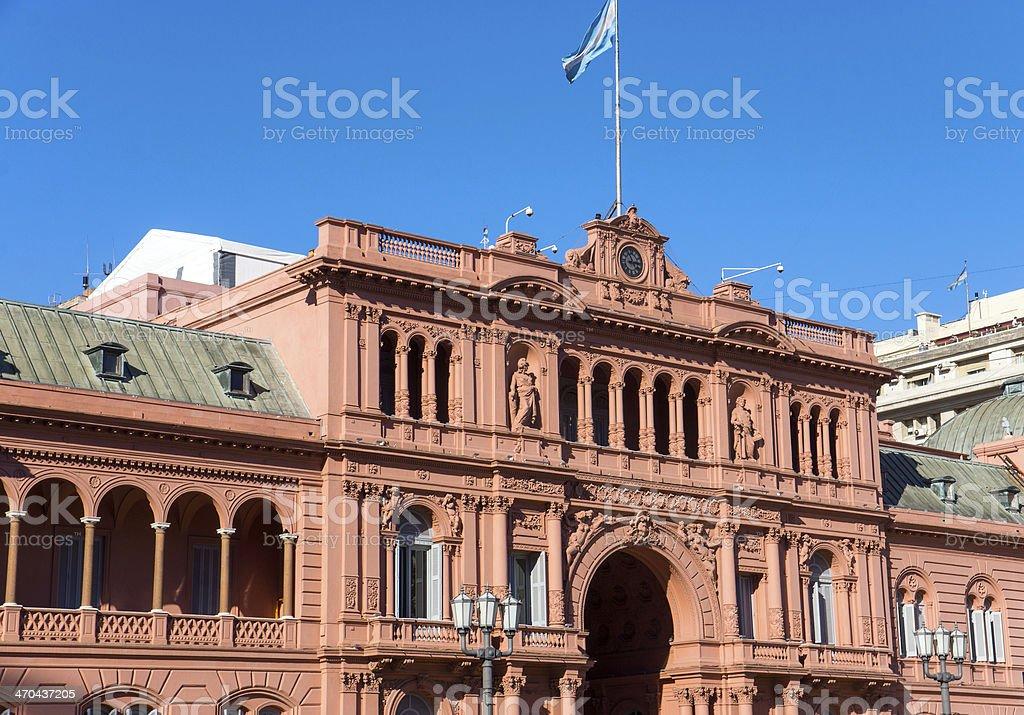 Detail of the Casa Rosada stock photo