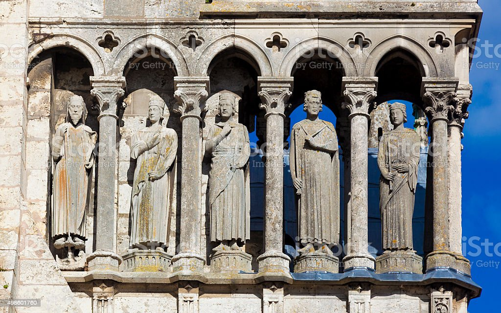 Detail of the cathedral of Chartres stock photo