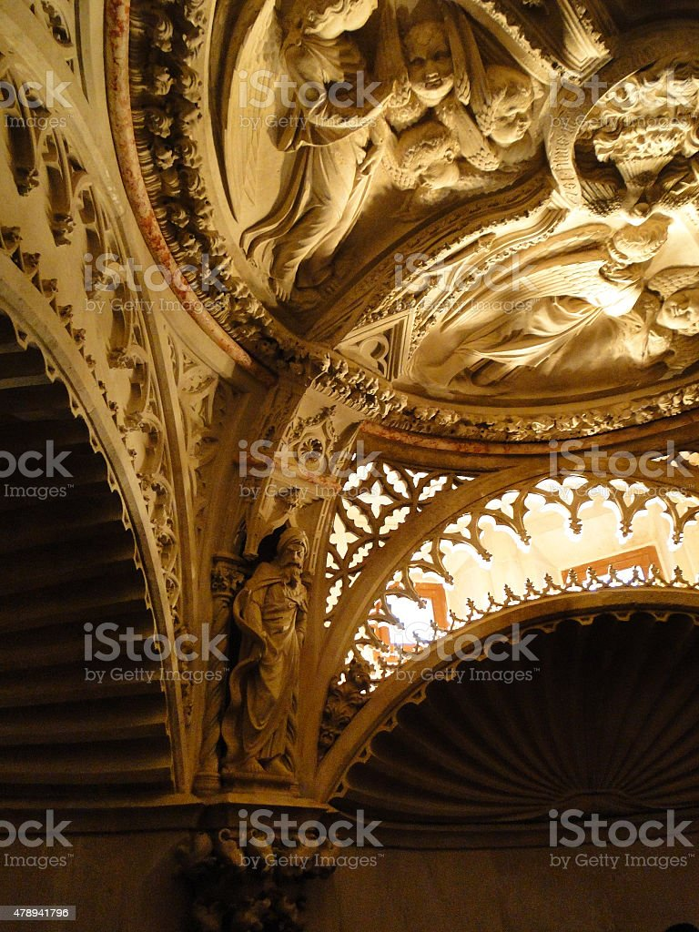 Detail of the Cathedral of St. James in Sibenik stock photo