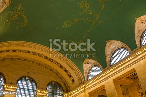 Zodiac Signs on the Ceiling of Gran Central Terminal in Manhattan, New York