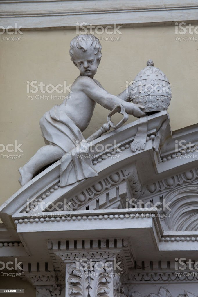 Detail of the Church of St. Peter and St. Paul, Vilnius, Lithuania stock photo