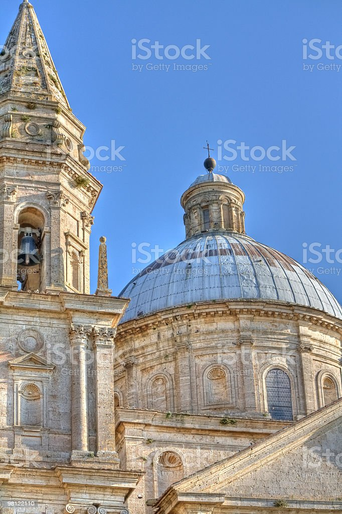 Detail of the church San Biagio in Montepulciano (Tuscany,Italy) royalty-free stock photo