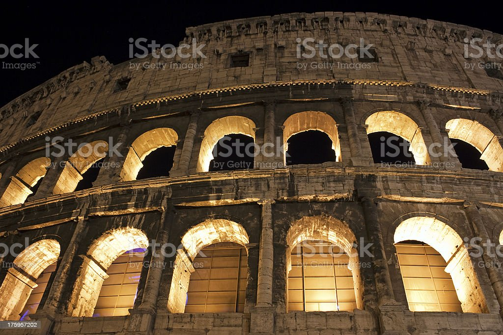 Detail of the Colosseum in Rome, Italy royalty-free stock photo