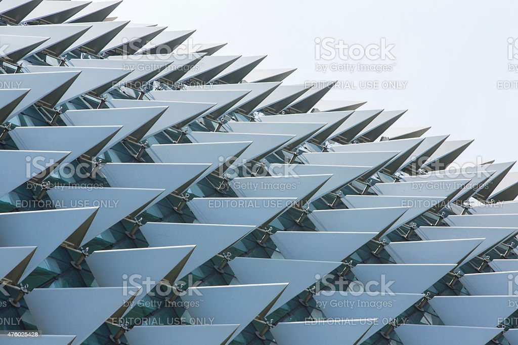 Detail of the Esplanade Theatres by the Bay, Singapore stock photo