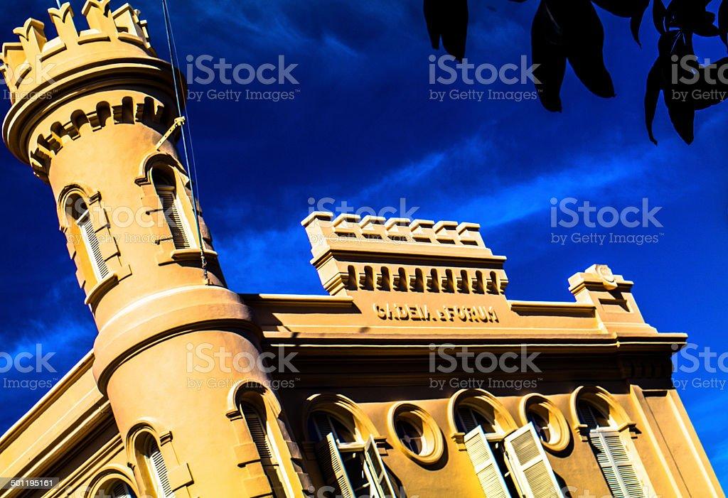 Detalhe da fachada do popular edifício em Ilhabela. - foto de acervo