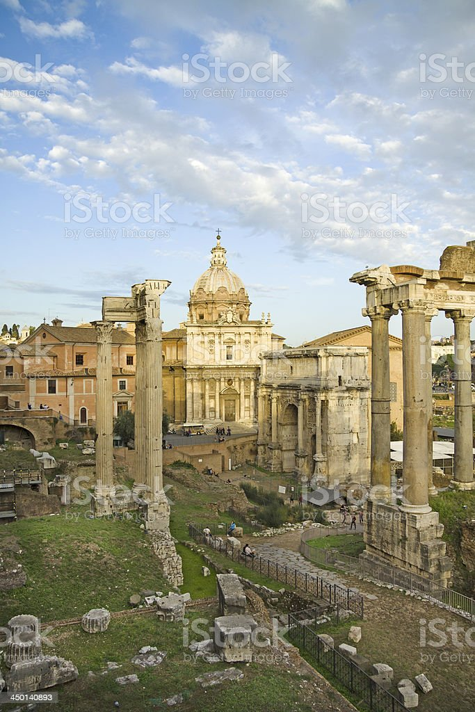 Detail of the Fori Imperiali, Rome, Italy royalty-free stock photo