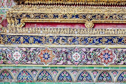 Detail of The Grand Palace of Bangkok, Thailand