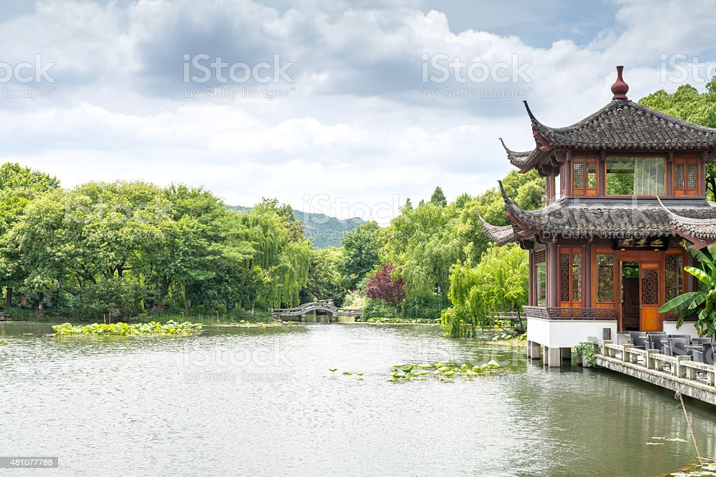 detail of the historic Yuyuan Garden stock photo