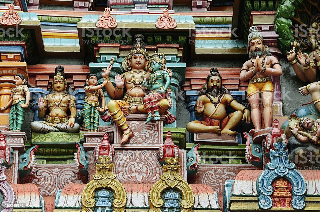 Detail of the Indian temple stock photo