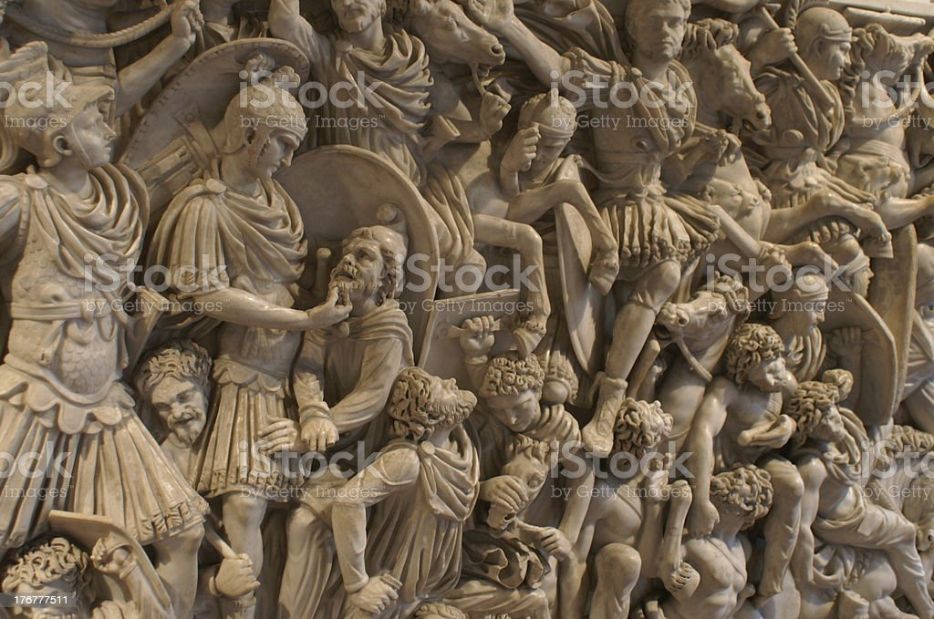Detail of the Ludovisi Sarcophagus stock photo
