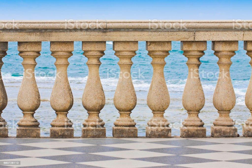 Detail of the Mascagni terrace (Italy - Livorno city) stock photo
