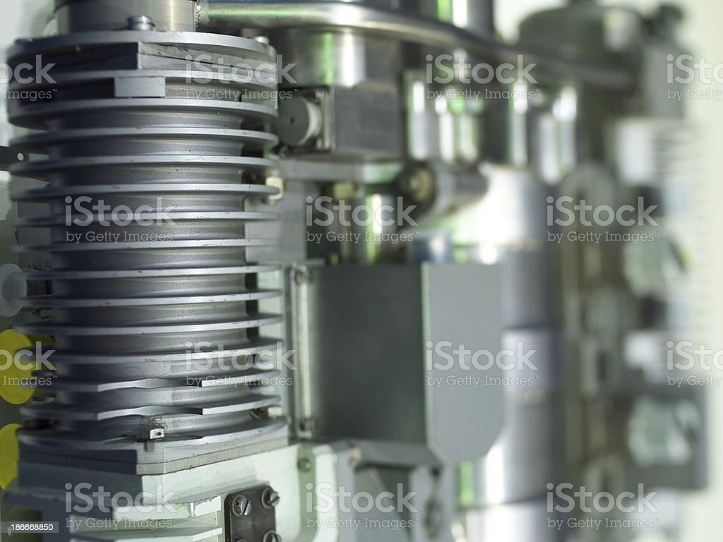 Detail of the mechanism stock photo