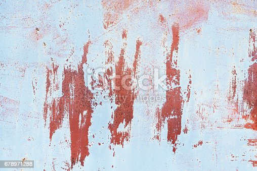 istock Detail of the old painted metal surface with clear structure, closeup 678971288