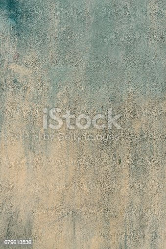 istock Detail of the old painted metal surface with clear structure, closeup 679613536