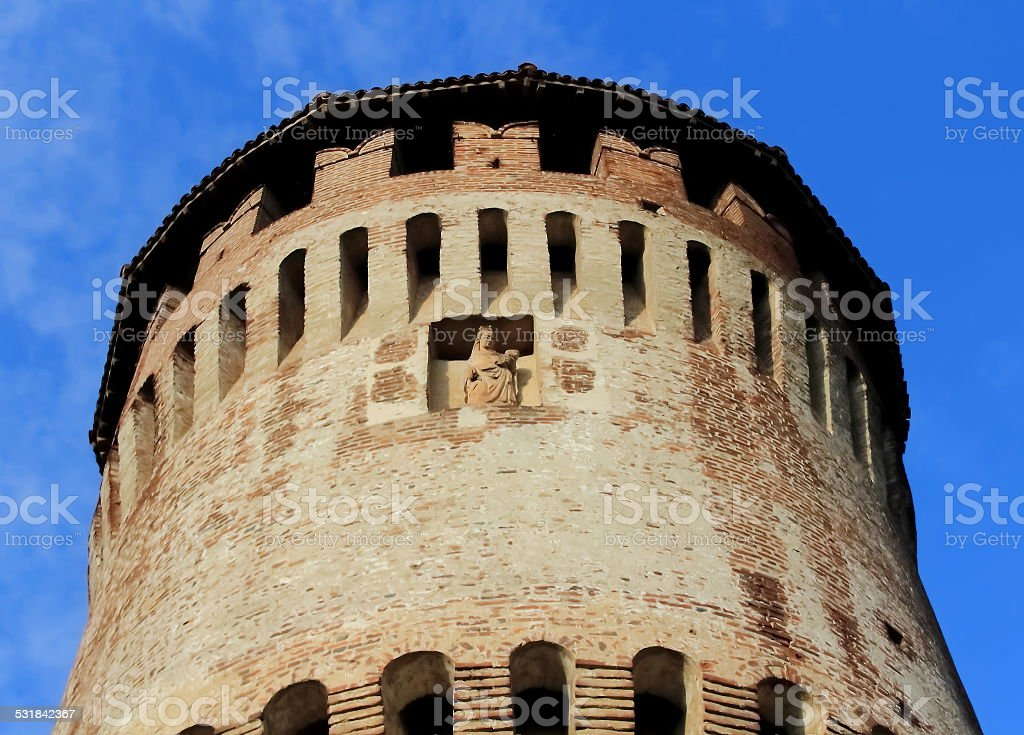 Detail Of The Old Tower stock photo