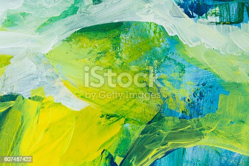 istock Detail of the Painting as a Background 607487422