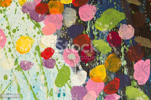 623963530istockphoto Detail of the Painting as a Background 623963270