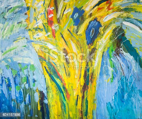 623963530istockphoto Detail of the Painting as a Background 624157936