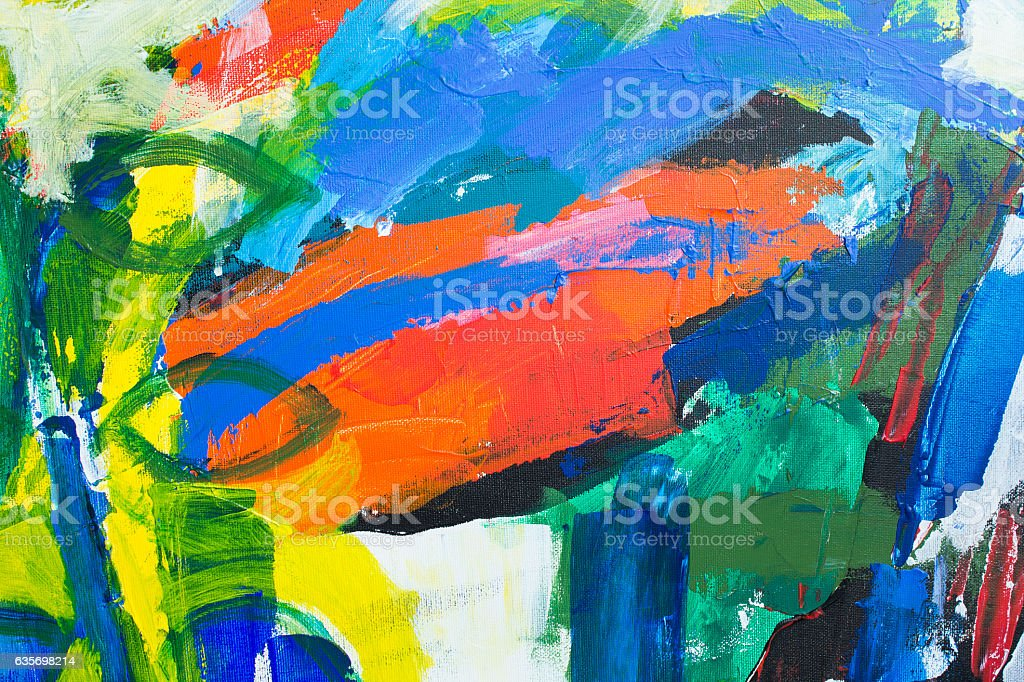 Detail of the Painting as a Background royalty-free stock photo
