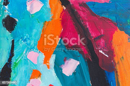 istock Detail of the Painting as a Background 637369480
