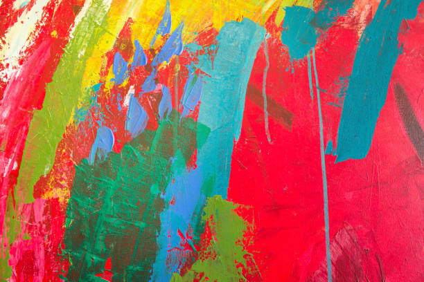 Detail of the Painting as a Background - foto stock