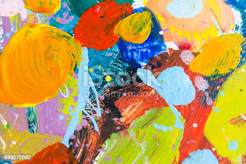 910798810istockphoto Detail of the Painting as a Background 849375582