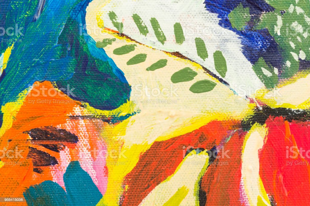 Detail of the Painting as a Background - Zbiór zdjęć royalty-free (Abstrakcja)