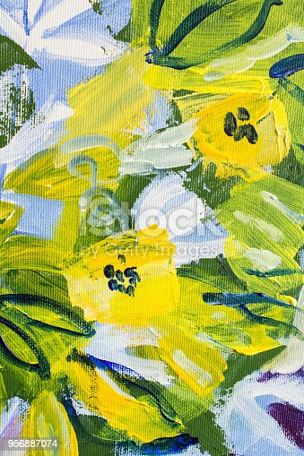 910798810 istock photo Detail of the Painting as a Background 956887074