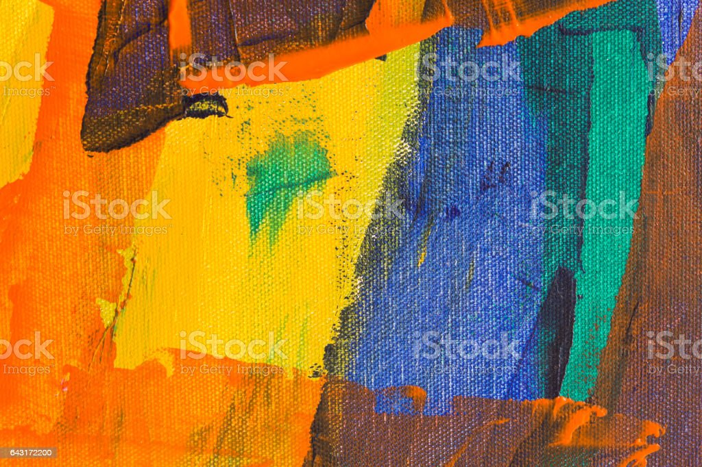 Detail of the Painting stock photo
