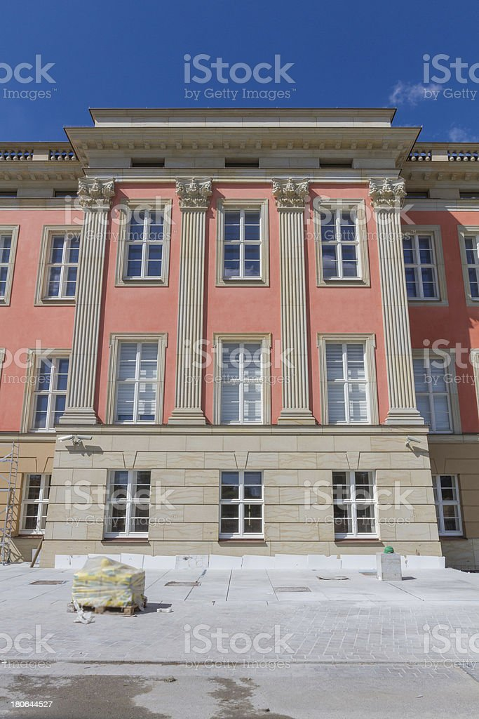 Detail of the rebuilded city castle in Potsdam Germany royalty-free stock photo