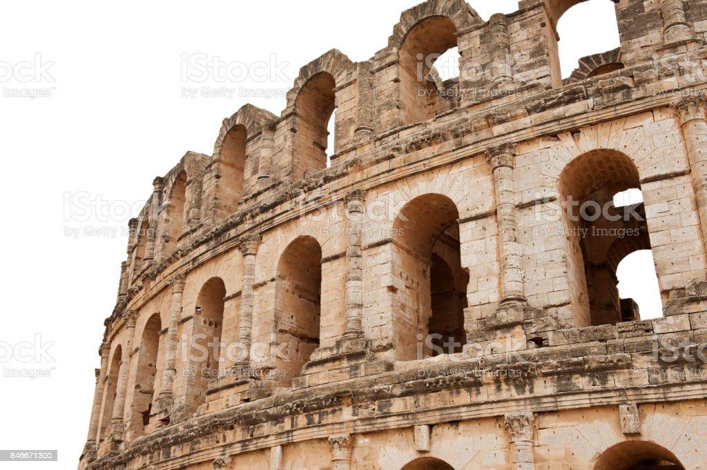 Detail of the roman amphitheater stock photo