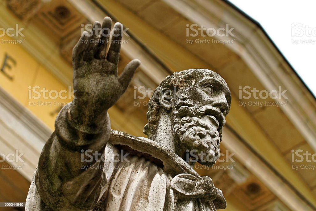 Detail of the Statue of St. Paul stock photo