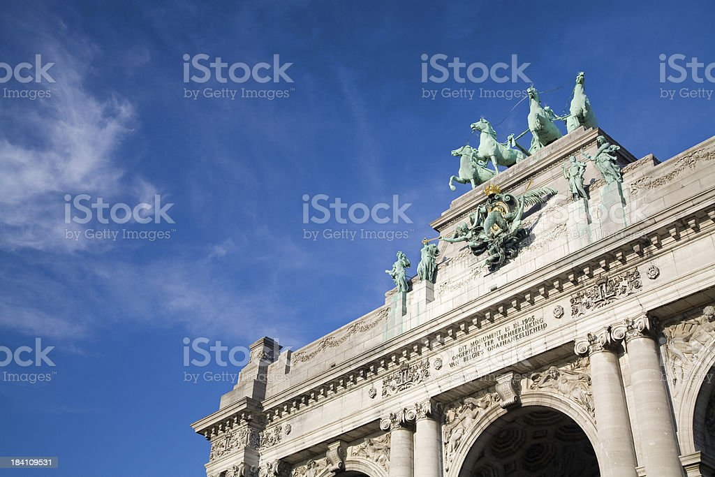 Detail of the Triumphal Arch in Brussels royalty-free stock photo