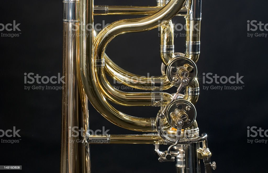 detail of the trombone royalty-free stock photo