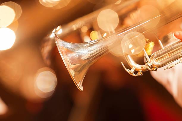 detail of the trumpet closeup - caz stok fotoğraflar ve resimler