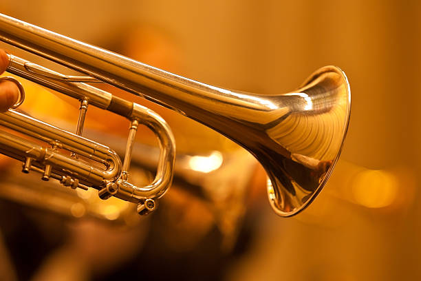 Detail der Trompete Nahaufnahme – Foto
