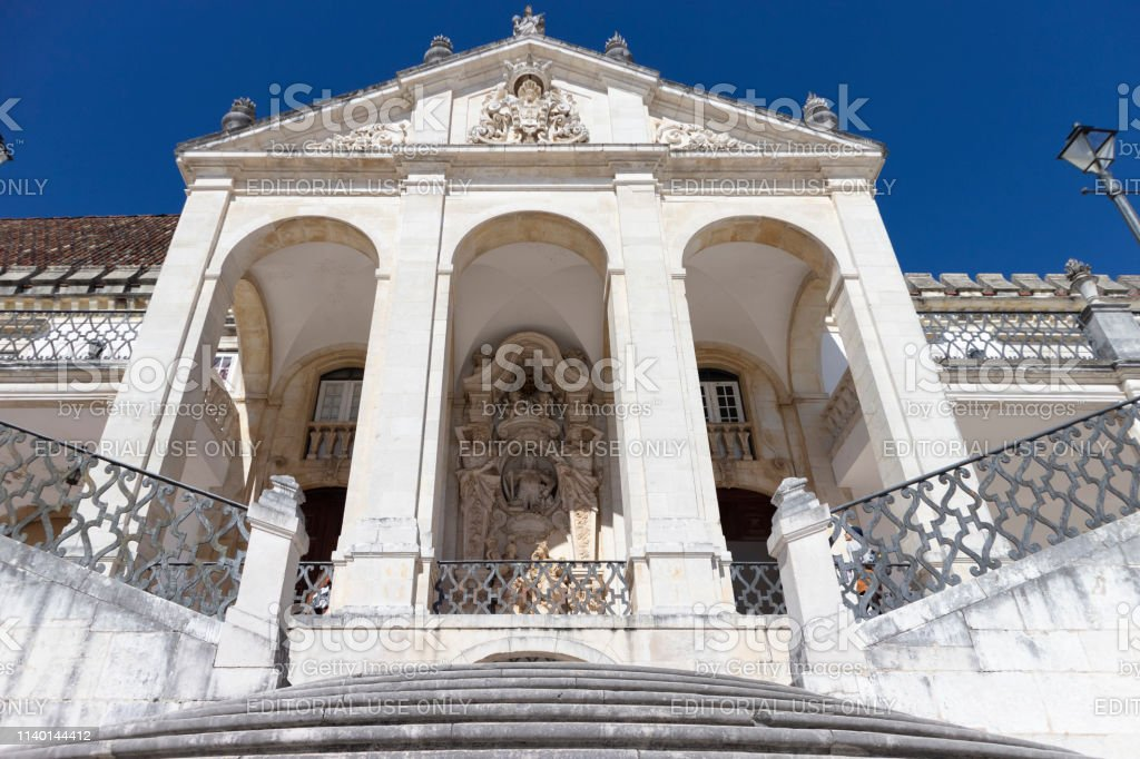 Detail of the University of Coimbra, Portugal - stock photography - foto stock