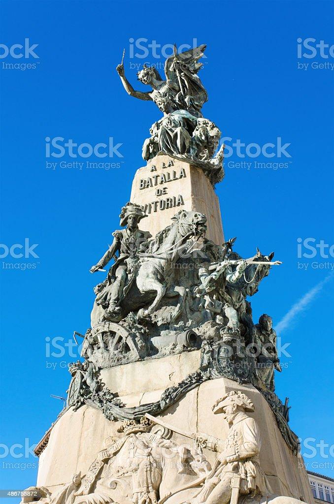 Detail of the Vitoria Battle monument, Alava, Spain. stock photo