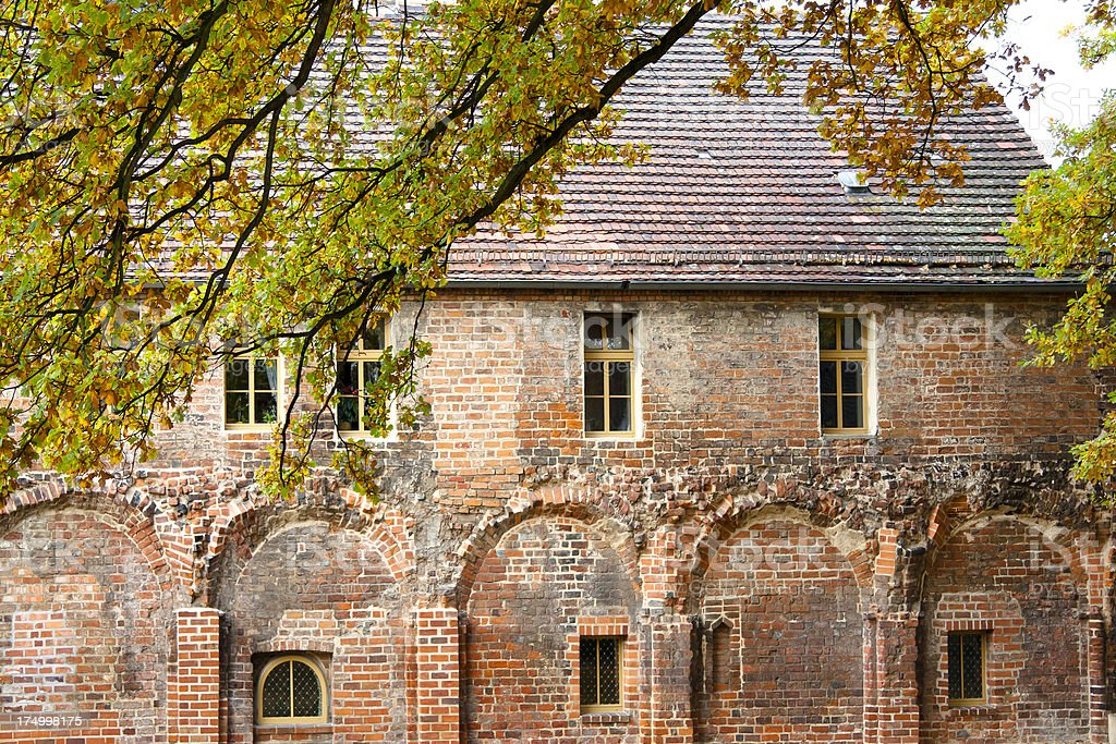 Detail of the Zinna Abbey, Germany. stock photo