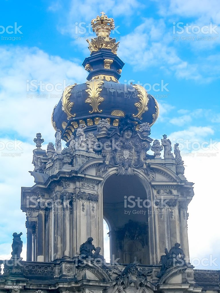 Detail of the Zwinger Palace in Dresden stock photo