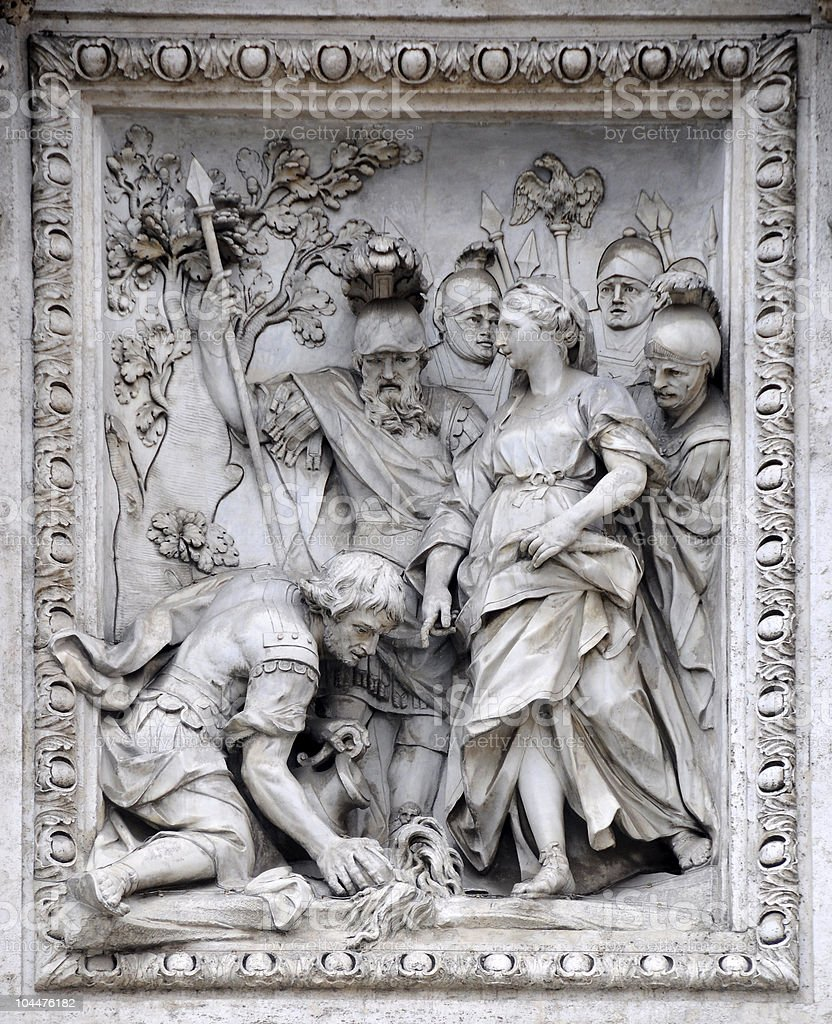 Detail of Trevi Fountain. royalty-free stock photo