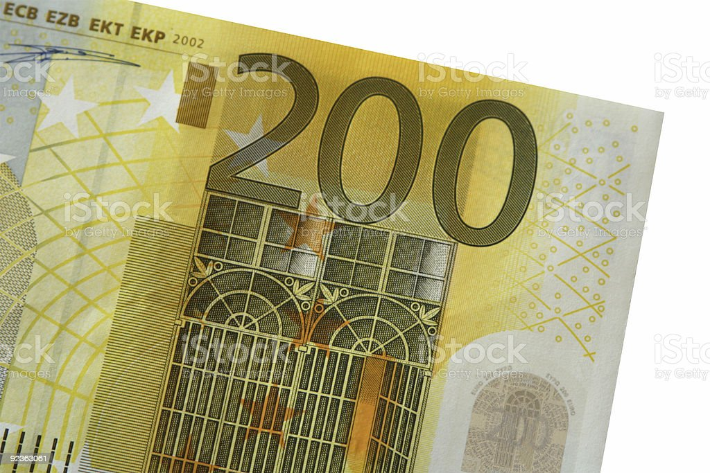Detail of two hundred euro note royalty-free stock photo