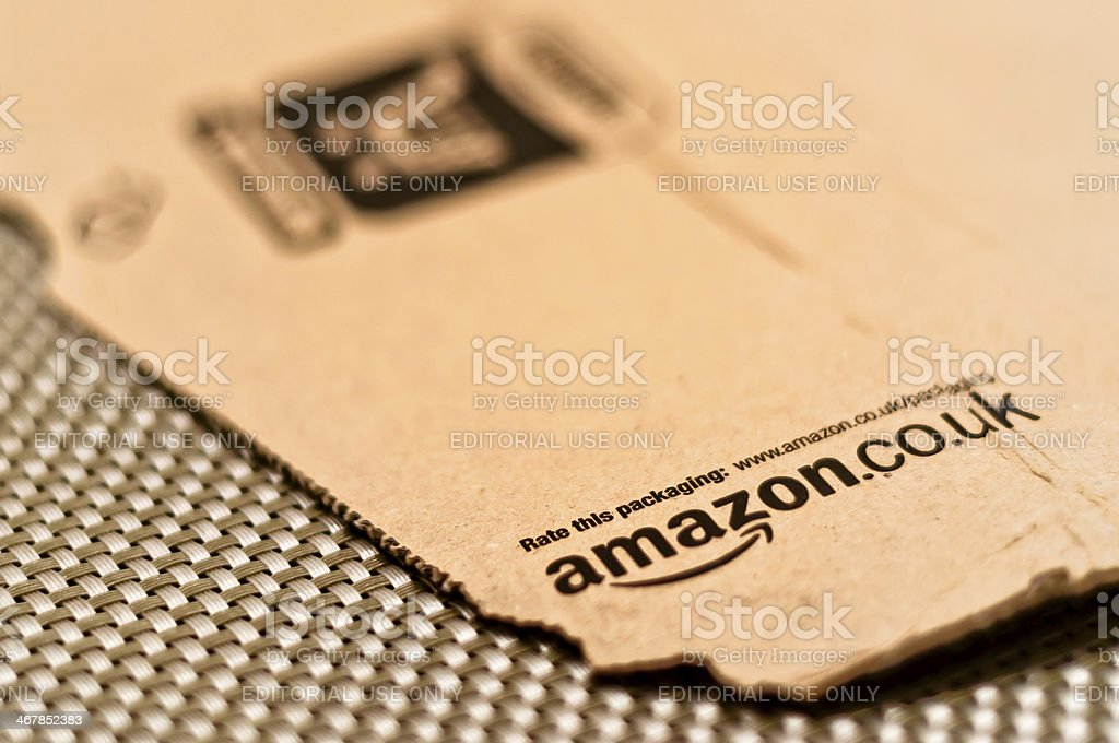 detail eines typisch Amazonas-package Lizenzfreies stock-foto