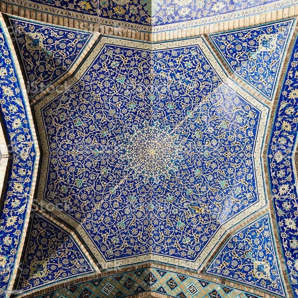 Detail of vault, Masjed-e Imam, Isfahan, Iran stock photo