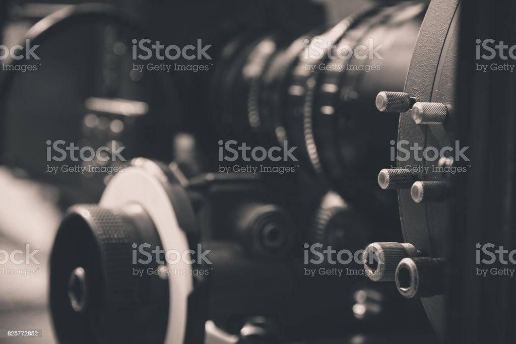 detail of Video camera stock photo