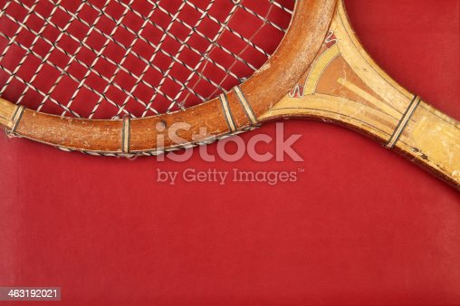 Detail of vintage tennis racket with space for your logo or text