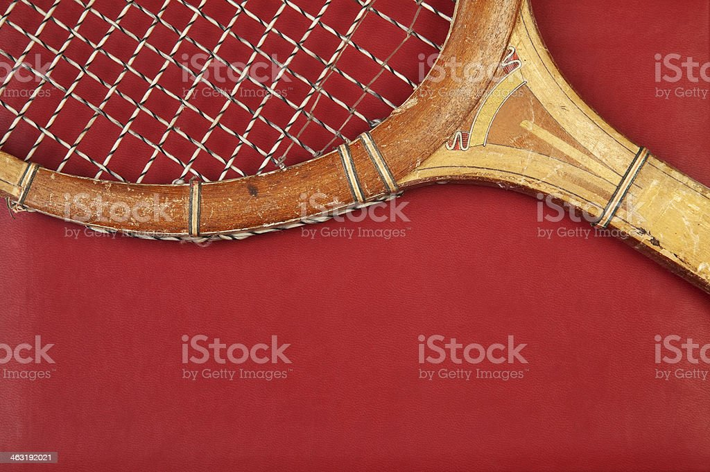 Detail of vintage racket stock photo